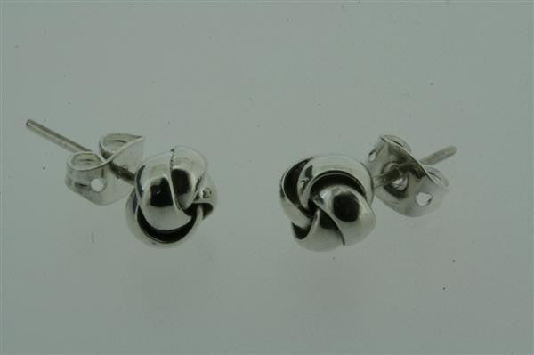 small folded knot stud
