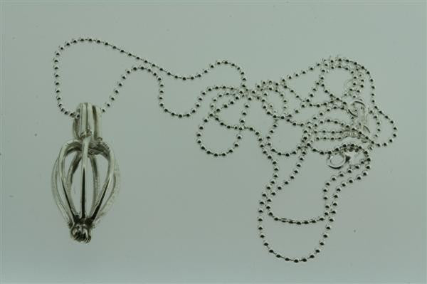 small wisk pendant on 55cm ball chain