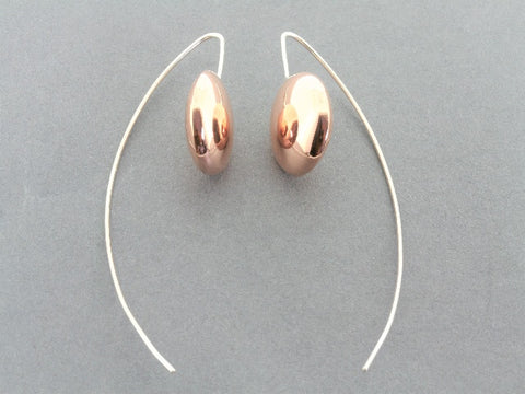 smartie drop earring - copper