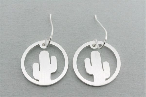 sterling silver cactus earring