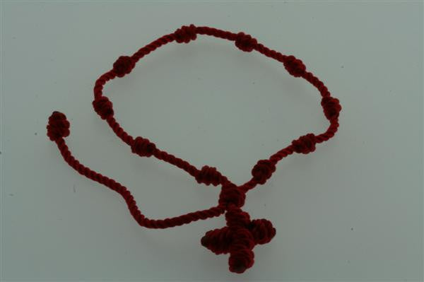 string rosario bracelet - red