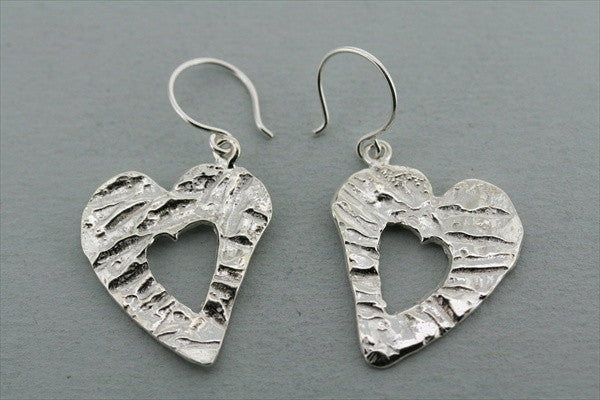 textured heart cutout earring