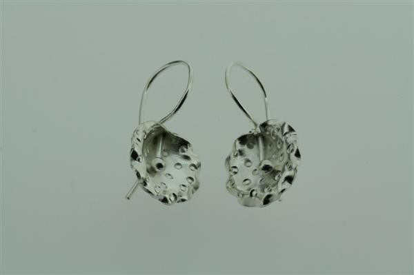 textured orchid hook earring