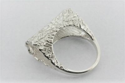 sterling silver ring with textured treatment