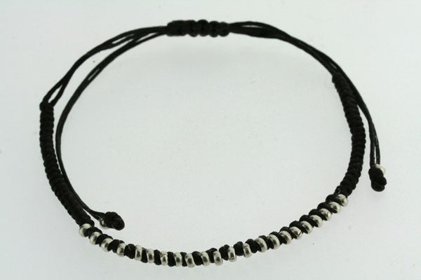 black thread small bead bracelet