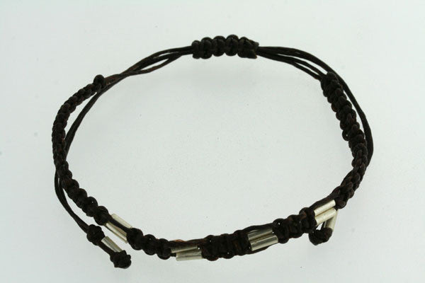 choc thread double bead bracelet