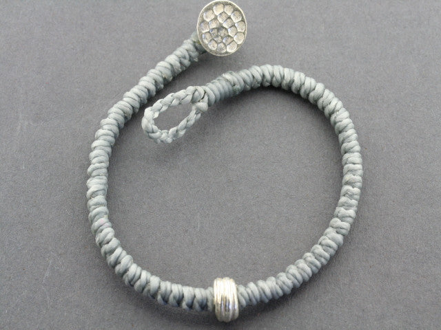 reel bead bracelet - grey