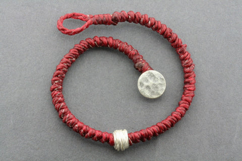 reel bead bracelet - red