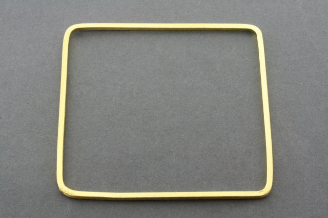 narrow square bangle - gold plated