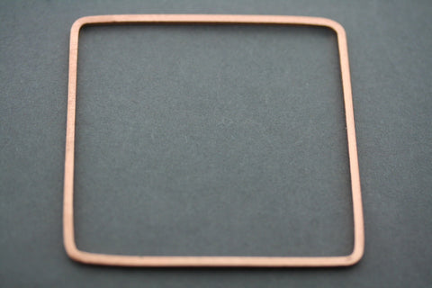 narrow square bangle - rose gold plated