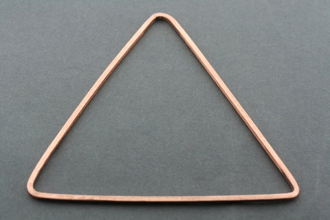 narrow triangle bangle - rose gold plated