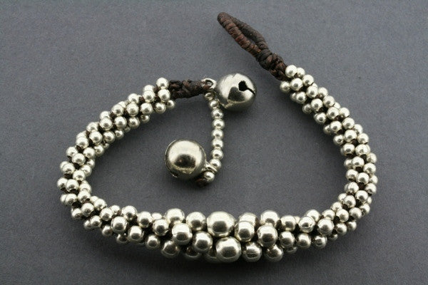 metallic bead tubular bracelet
