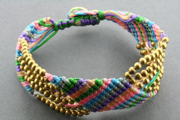 7 strand zigzag bracelet - bright colour