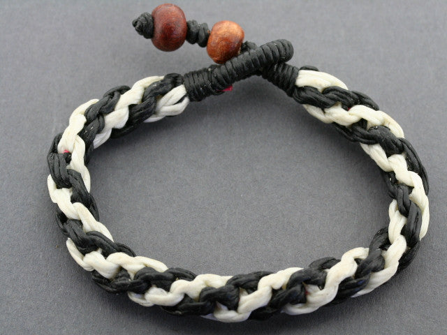 plaited rope bracelet - zebra
