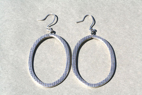 large oval hoop cc earring