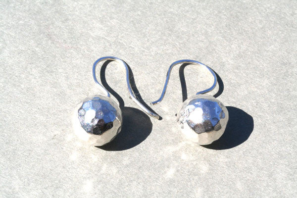 battered ball hook earring