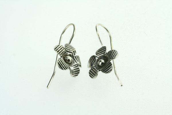 stripe flower hook earring