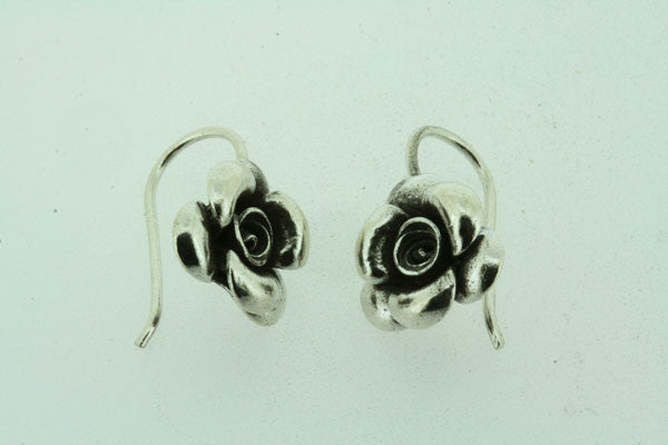 small rose hook earring