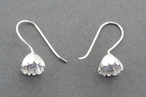 Snowdrop lantern earring - small- sterling silver
