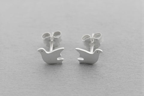 Dove stud - sterling silver