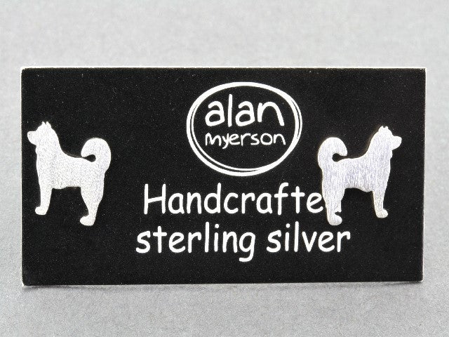 Dog stud - Husky - sterling silver