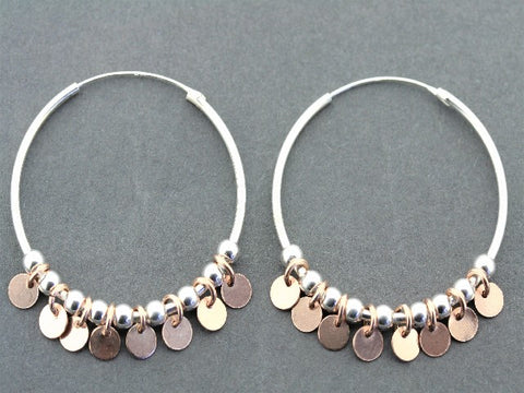 tambourine hoop - rose gold on silver