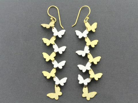 butterfly wishes drop earring - 22 Kt gold on silver