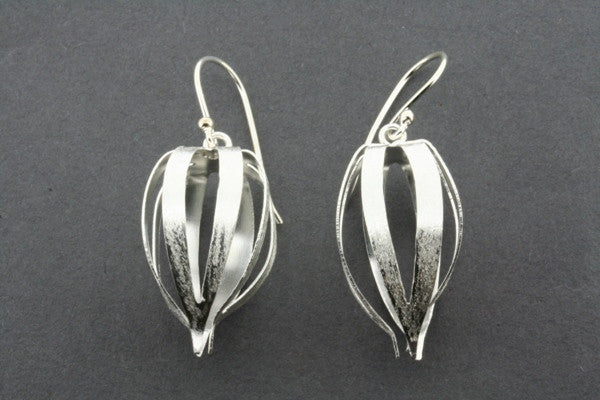 large seed pod earring