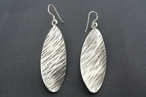 twister stripe earring - pure silver