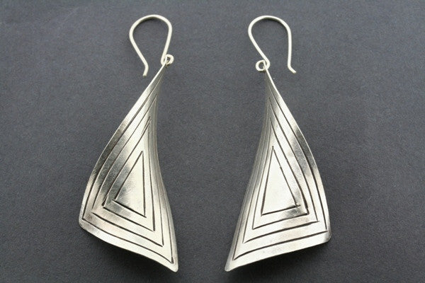 twisted triangle earring