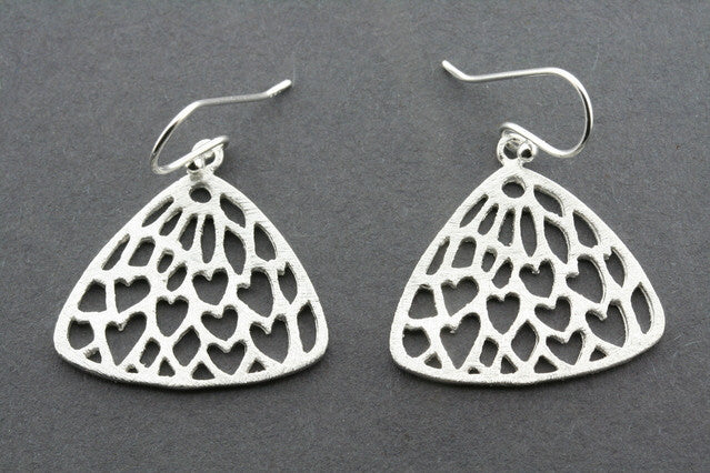 lace fan earring