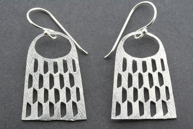 multi cutout basket earring