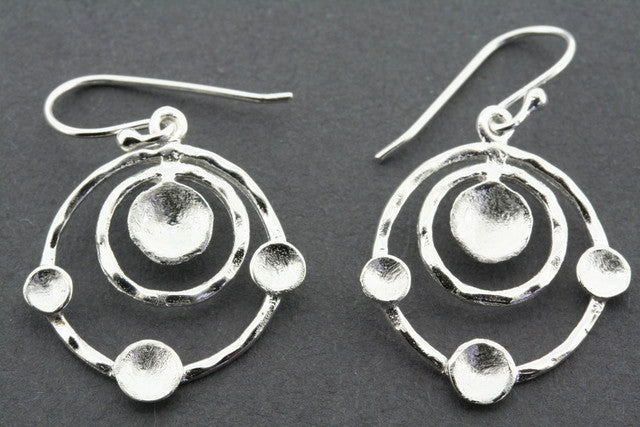 double hoop 4 disc  earring