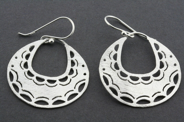 textured cutout hoop earring
