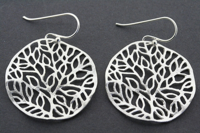 twisted disc leaf earring