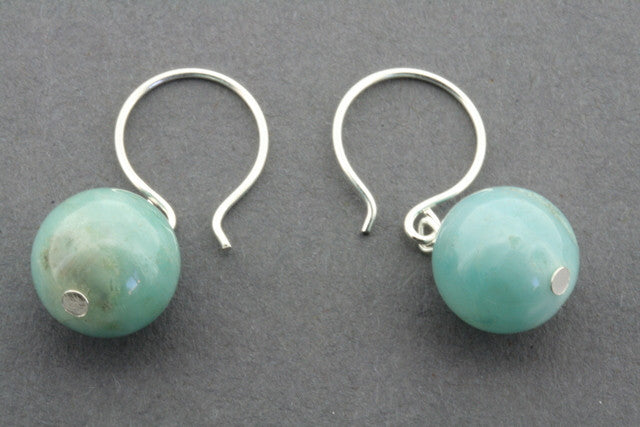 amazonite ball drop earring