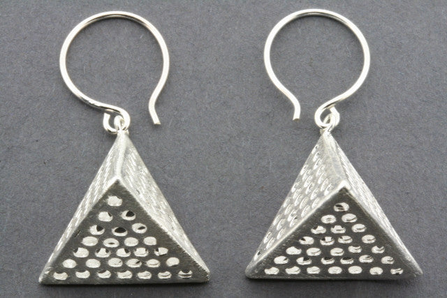 pyramid hive earring