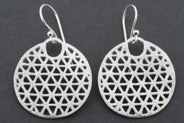 cutout circle disc earring