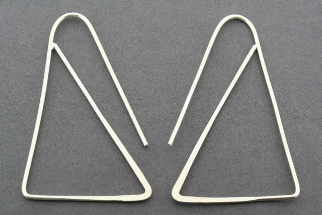 triangle drop  - sterling silver