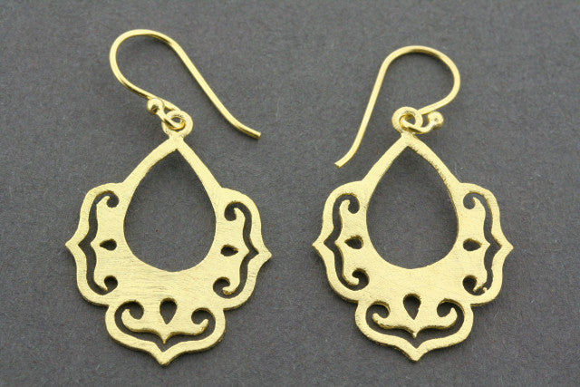 chandelier drop earring - gold plated