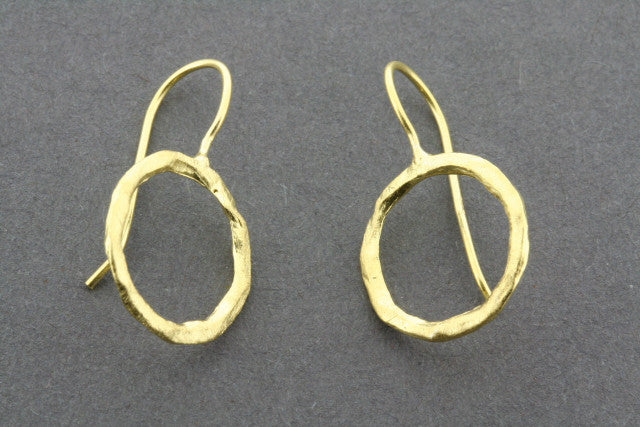 circle earring - gold plated