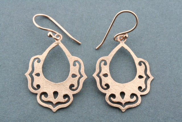 chandelier drop earring - rose gold plated