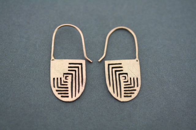 Georgia earring - rose gold plated