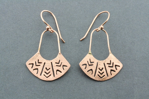 Rosemary earring - rose gold plated