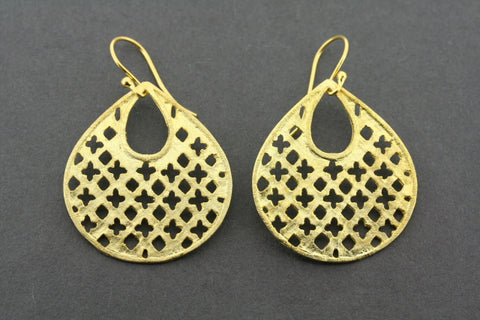 Royal earring - gold plated