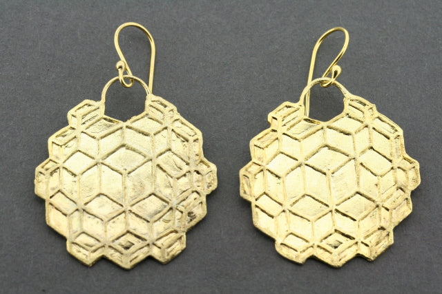 Bernice earring - gold plated