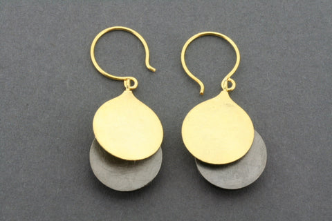 Oxidized & gold plated Lulu earring