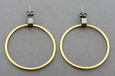 Lucy hoop - oxidized & gold plated