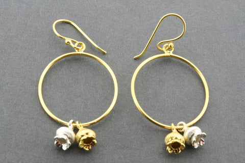 Rene earring - gold plated & silver