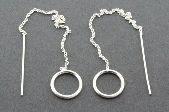 sahara hoop and chain earring